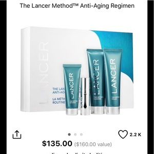 Lancer Method Anti aging set, new